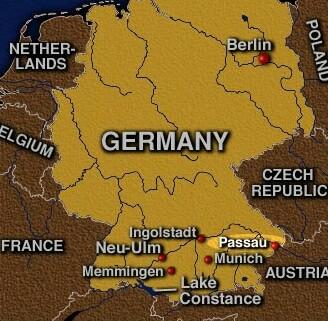Passau map 3   AEGEE Passau e.V.   European Students' Forum